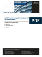 Investors in People, Managerial Capabilities and Performance Jan 2010