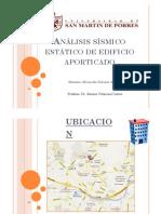 Analisis Sismico Estatico de Edificio Aporticado