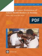 Diversity in Career Preferences of Future Health Workers in Rwanda