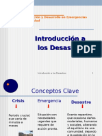 Introduccion a Los Desastres