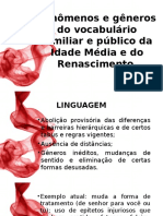 Fenômenos e Gêneros Do Vocabulário Familiar e Público