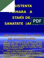 Curs 1 - Asistenta Primara a Starii de Sanatate (APSS)
