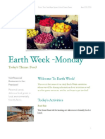 earth week newsletter- monday