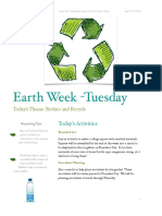 earth week newletter- tuesday