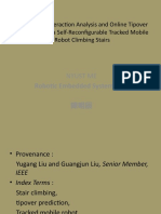 Track–Stair Interaction Analysis and Online Tipover Prediction for a Self-Reconfigurable Tracked Mobile Robot Climbing Stairs