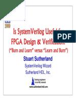 2009-SNUG-SJ-SanJose SystemVerilog and FPGAs Presentation