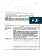 characteristic strategy graphic organizer