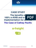 e Freight Case Study Cathay Pacific