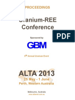 ALTA 2013 UREE Proceedings Contents Abstracts