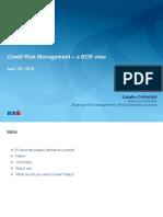 Prezentare Workshop Credit Risk - Conferinta Risk Management 2016