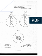 US Patent number 317171 dated 1885 to Carl Muller, claiming a Incandescent Light Bulb.