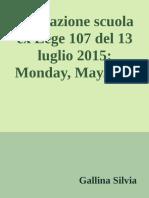 Valutazione Scuola Ex Lege 107 - Gallina Silvia