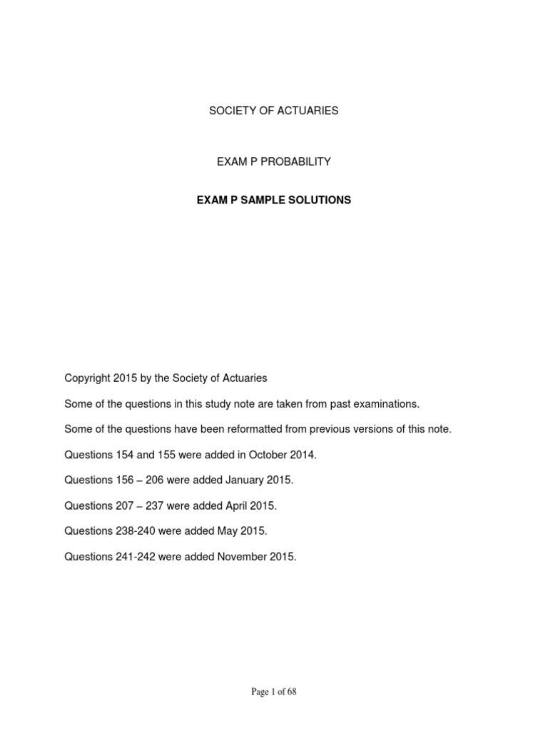 Edu-exam-p-sample-quest society of actuaries exam p probability.