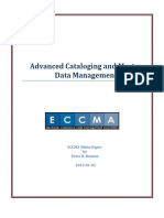 Advanced Cataloging and Master Data Management