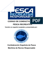 Codigo de Conducta de La Pesca Recreativa