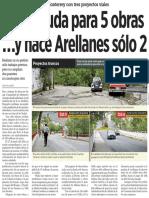 03-05-16 Pide deuda para 5 obras …y hace Arellanes sólo 2