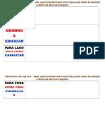 QUADRANTE DE TAREFAS PARA OS QUATRO PROPÓSITO DA CÉLULA.docx