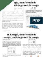 Energía, transferecia de energía, análisis general de energía