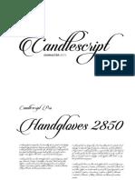 Candlescript Pro Character Set