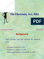 Main Features of Electricity Act 2003