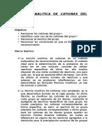 Marcha Analitica de Cationes Del Grupo I-presentacion