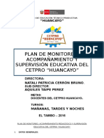 PLAN de Supervision y Monitoreo