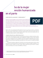 Artículo Derecho de La Mujer a Una Atención Humanizada en El Parto