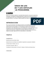 Los Horarios de Los Españoles y Los Difíciles Años de La Posguerra. Proyecto