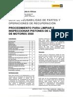 Manual Guia Procedimiento Limpieza Inspeccion Pistones Motores Serie 3500 Caterpillar Ferreyros
