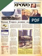 Capas históricas Jornal O POVO Fortaleza/Ceará Impeachment Collor