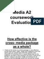 Media A2 Course Work Evaluation