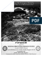 National Seminar on SOIL HEALTH AND WATER MANAGEMENT  FOR SUSTAINABLE SERICULTURE Organised by Regional Sericultural Research Station, Central Silk Board, Ministry of Textiles, Govt. of India, Bangalore, Karnataka, India, Published by