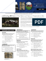 2016  Idaho Archaeology and Historic Preservation Month brochure