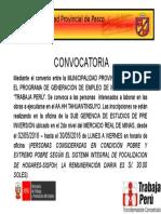 Convocatoria Trabaja Perú 2