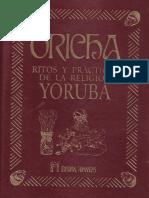Oricha Ritos y Practica de La Religion Yoruba