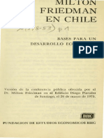 Milton Friedman en Chile
