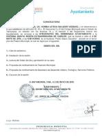 25 Sesión Extraordinaria del Honorable Cabildo del R. Ayuntamiento 160504