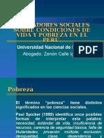 Condiciones de Vida en El Peru