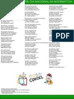 Convite Cordel Dia Da Matematica Mara 2016