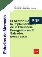 El Sector Electrico y La Implementacion de La Eficiencia Energetica en El Salvador