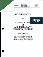 Air Pollutant Emission Factors