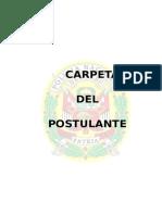 Carpeta de Postulante a La Asimilacion -Pnp 2016