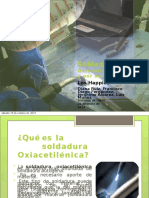 Soldadura Oxacetiléno y Por Arco
