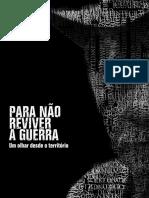 PARA NÃO REVIVER A GUERRA Um olhar desde o território- Separata em Português