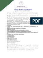 Aplicación Del Cloruro de Magnesio