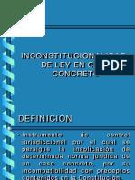 Inconstitucionalidad de Ley en Caso Concreto