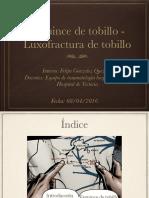 Esguince de Tobillo y Luxofractura de Tobillo