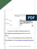 Sample Motion to Quash Subpoena Duces Tecum in California