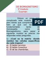 Examen Del Modulo No. 5 de Biomagnetismo