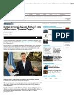 Justiça investiga ligação de Macri com offshores em _Panama Papers_ - 03_05_2016 - Mundo - Folha de S.pdf